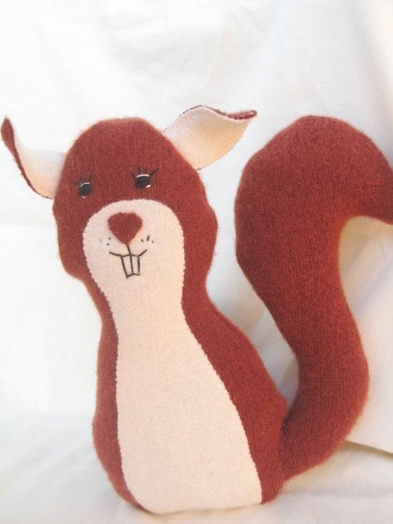 Plush Squirrel - Eco Friendly - Ready to Ship