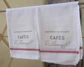 french grainsack shabby chic dish towels set of 2
