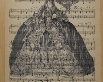 french market marie antoinette vintage sheet music