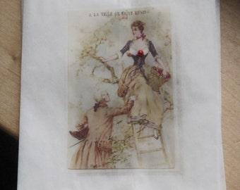 french market victorian couple glassine sacks set of 8