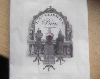 french flea market paris l'atelier dress form sacks set of 6