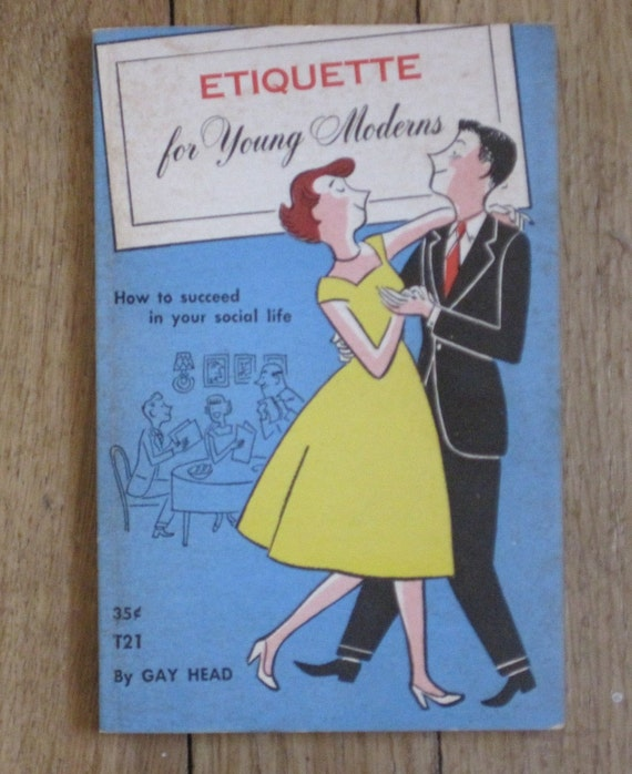 vintage etiquette for young moderns paperback book circa 1954