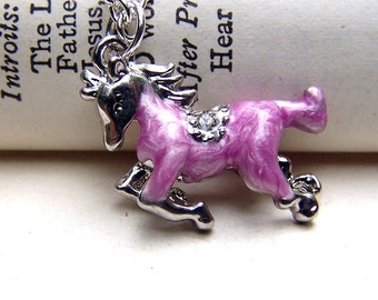 Purple Horse Necklace Girls Horse Jewelry Girls Necklace