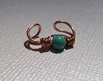 Turquoise Jewelry Copper Ear Cuff Body Jewelry