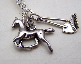 Silver Horse Necklace - Equestrian Jewelry - Horse Jewelry - Girls Necklace - Girls Jewelry Gift for Her Gag Gift