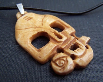 Mens Necklace Bone Jewelry Dia De Los Muertos Gothic Skull Necklace Unisex Mens Jewelry