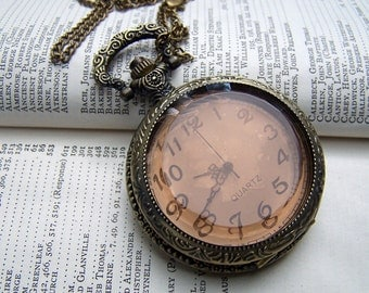 Locket Watch Necklace Vintage Inspired Neo Victorian Romantic