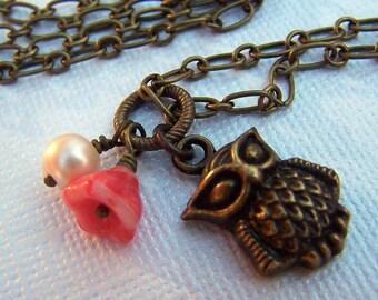 Owl Necklace Owl Jewelry