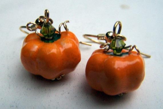Thanksgiving Jewelry Thanksgiving Earrings Pumpkin Earrings Harvest Orange Jewelry Holiday Earrings Holiday Jewelry