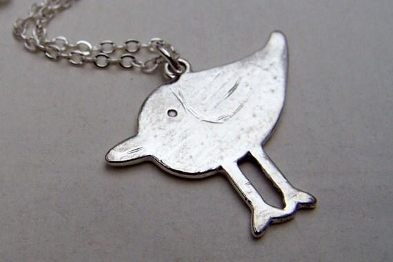 Silver Bird Necklace - Silver Bird Jewelry