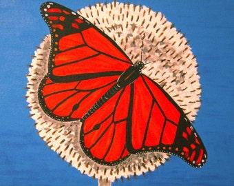 Monarch Butterfly on Dandelion