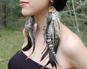 GODDESS Long Feather Earrings