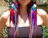 IRIS Super Long Feather Earrings