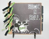 ROCK N ROLL Paper Bag Scrapbook Album