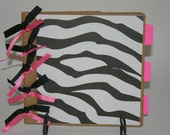 BLACK WHITE and PINK Paper Bag Scrapbook Album