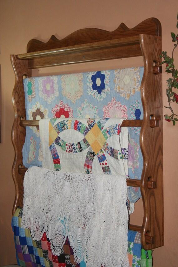 For Nightowl239 Quilt Rack Solid Oak Custom Handmade 32