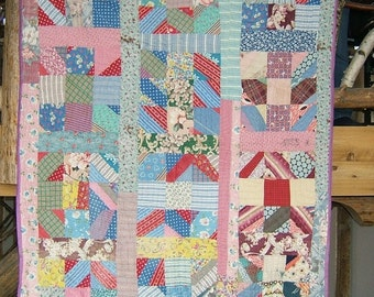 Antique Feed Sack Quilt