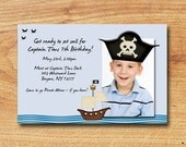 Pirate Photo Birthday Party Invitation-Digital Custom Card