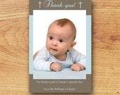 Christening Thank You Card-Printable Custom Card-Baptism/First Communion