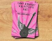 Rockin' Valentines - Printable Mini Valentines Card