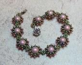 Marguerite (bracelet/ necklace/ earrings)/ PDF file