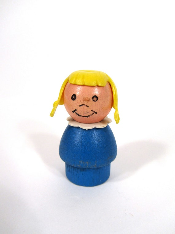 Fisher Price Little People Wooden Girl