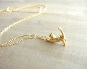 Cat Necklace in Gold - Darling Kitty