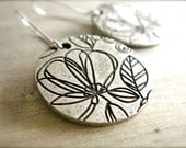 Etched Flower Earrings