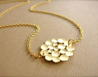 Tiny Gold Bubbles Necklace