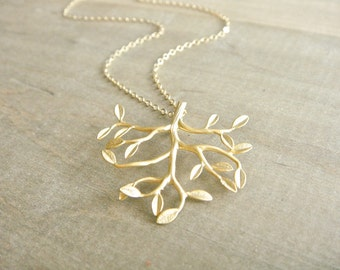 Tree of Life Necklace in Gold - Gold Filled Chain