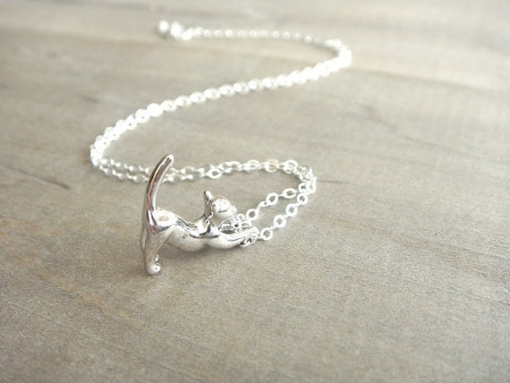 Cat Necklace in Sterling Silver - Darling Kitty