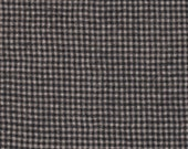 1959- REDUCED/Felted 100 Percent Woven Wool Fabric/ Mini Check/ Black and White/fashion accessories/general craft supplies/cases