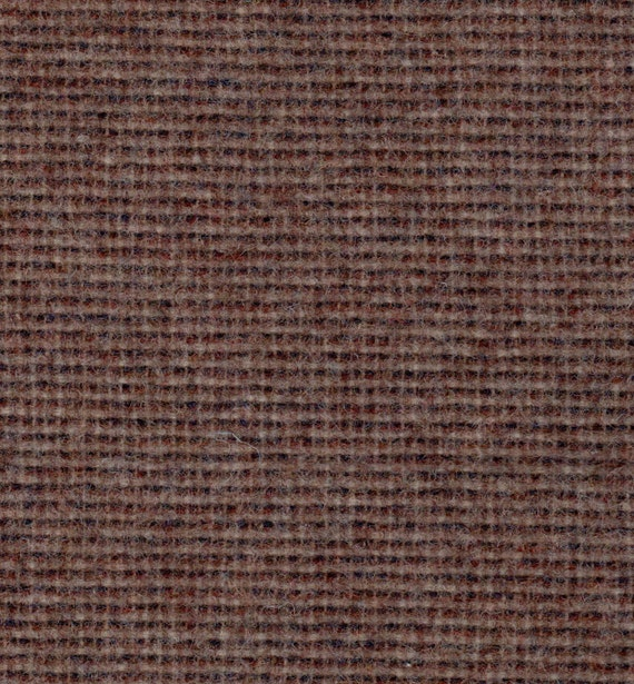 2146 -   Felted 100 Percent  Woven Wool - Mnii Check -Tan and Brown