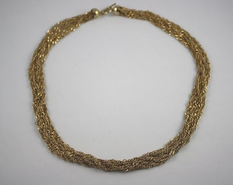 Vintage Gold Toned Multi Chain Necklace