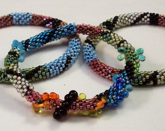 Bead Crochet Pattern and Shapes Bracelet Designs - 2 Bracelet patterns and Hints Document