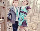 Aqua and Brown - Simply Adorable dress