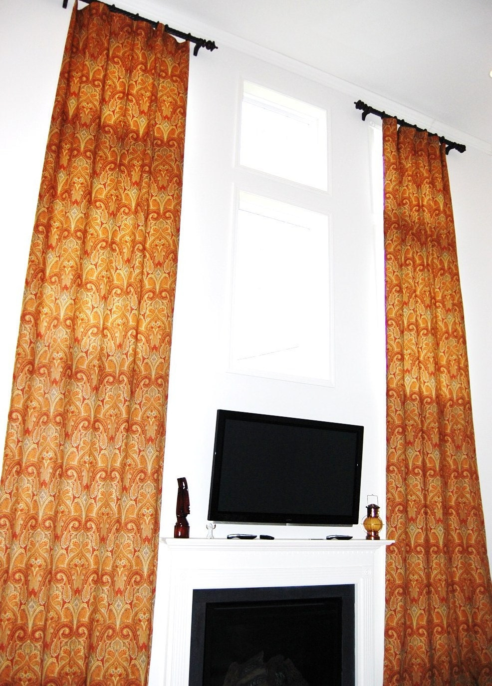 Extra long curtain panels curtain design for Narrow windows for sale