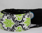 Quick Release Hipster Camera Strap Lime Citrus with Black Minky Back