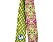 Camera Strap Cover Reversible Amy Butler Daisy Chain with Full Moon dots