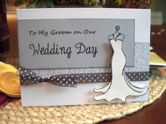 To My Groom on our Wedding Day Card with Envelope.  For the new husband