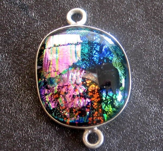 SALE Multi Colored Layered Dicroic Glass Pendant
