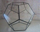 Terrarium Clear Glass ( PENTAGON SHAPE GLOBE ) Pattern Design Planter Dish Garden Bowl