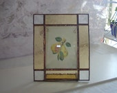 Stained Glass Picture Frame GOLD CLEAR BEVEL Pattern Design Photo Holder