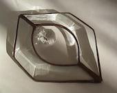 Glass Geometric HEXAGON SWAROVSKI CRYSTAL Bevel Ornament