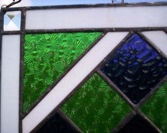 Nine Patch Stained Glass FLOWER Quilt Block MAYOR'S GARDEN Pattern Design Square