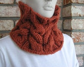 Copper Cabled Cowl (Cowl/Neckwarmer)