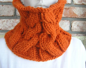 Pumpkin Chunky cowl/Neckwarmer