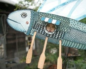 Paper Flying Fish, Moveable Sculpture