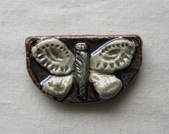 Butterfly - transformative soul - ceramic sculptural pendant