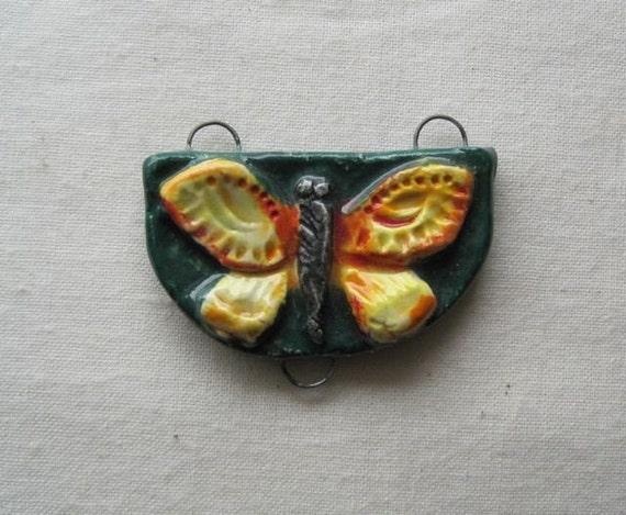 Butterfly - transformative soul - ceramic sculptural pendant